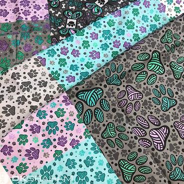 Yarn Paw Pet Custom Fabric Spoonflower