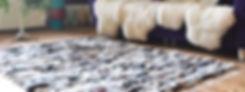 VL0041b vloerkleed geweven schapenvacht