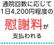 1日4200円程度の慰謝料