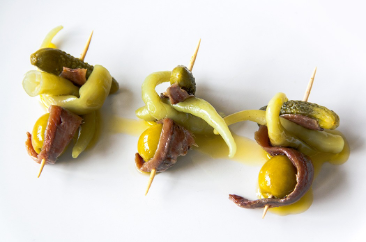 "Spains No1 Pintxo The Gilda - ""Dirty, Charming, and Spicy"""