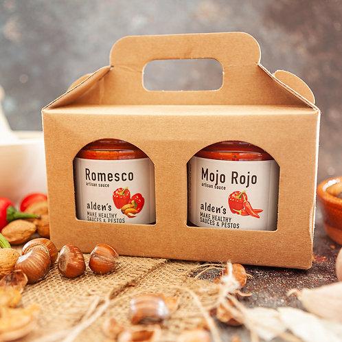 Romesco and Mojo Rojo