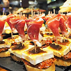 Iberia ham, goats cheese and sweet onion relish