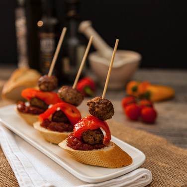 Meatballs & Pepper Pintxo