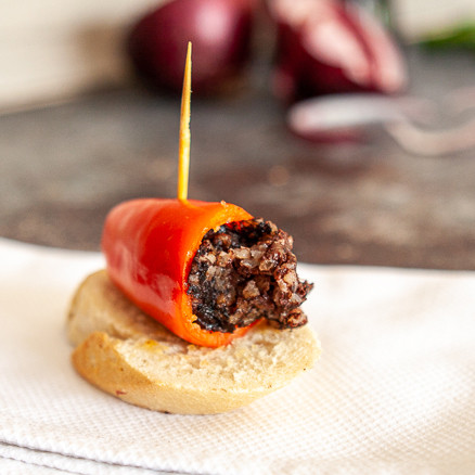 Red Pepper and morcilla