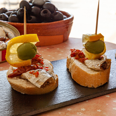 Pintxo of spiced sardine