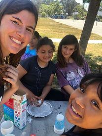 Rachel with kids from Isla Vista