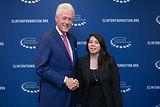 Javiera Salazar with Bill Clinton