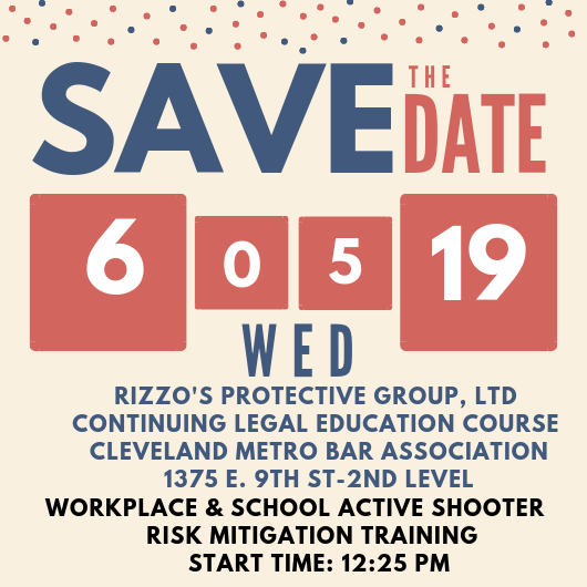 Save the date Rizzo's Protective Group a