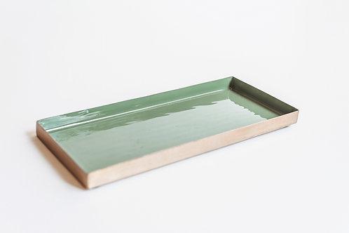 Goud- groene tray
