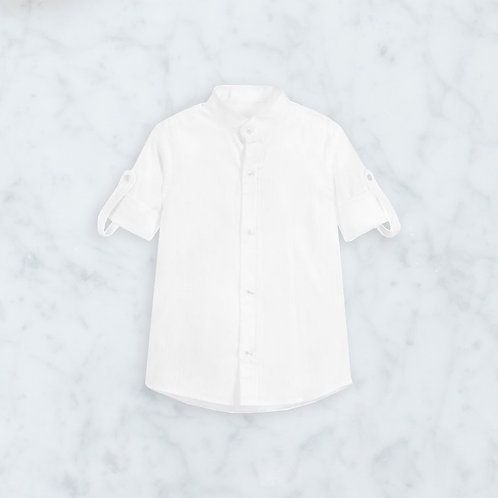 Hemdje wit roll up sleeves