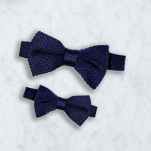 Vlinderdas daddy and me - navy blue