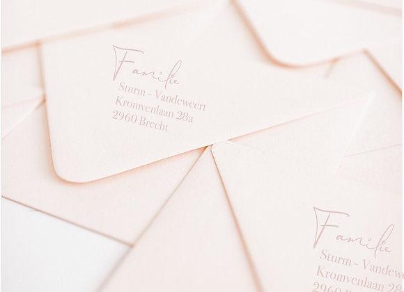 Adressen drukken op enveloppen