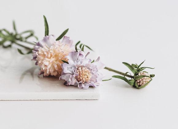 Kunststof - Scabiosa paars