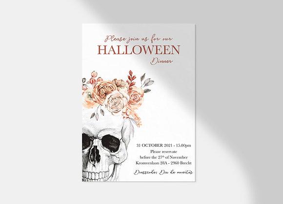 Collectiekaart   Halloween skull
