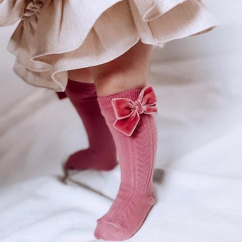 Kniekousen Lana dusty roze