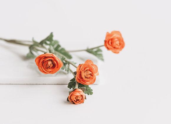 Kunststof - Ranonkeltjes oranje