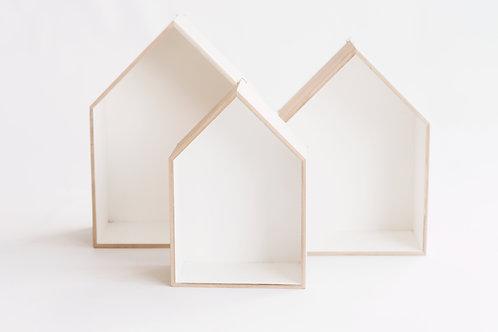 Houten huisjes (set 3)