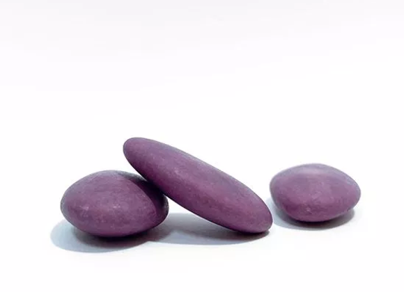 Doopsuiker - mat deep purple