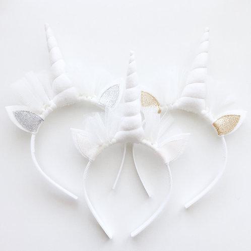 Unicorn diadeem white