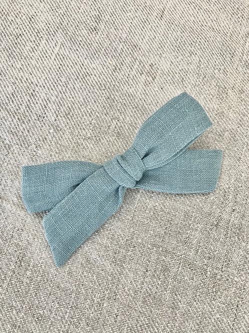 Haarstrikje linnen azul indigo