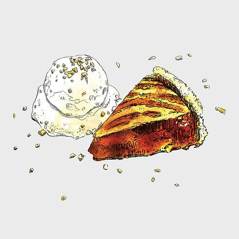 Bistro Menu - Illustration - Apple Pie.j