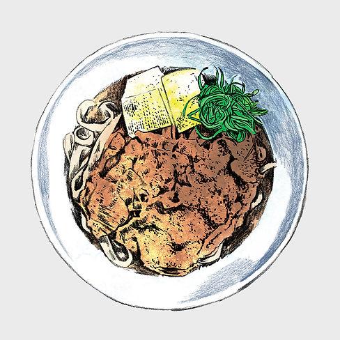 Bistro Menu - Illustration - Udon Noodle