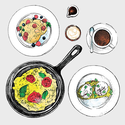 Bistro Menu - Illustration - Breakfast.j