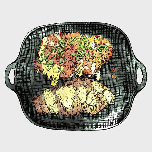 Bistro Menu - Illustration - Steak Frite