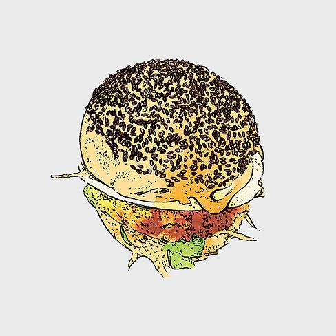 Bistro Menu - Illustration - Chicken Bur