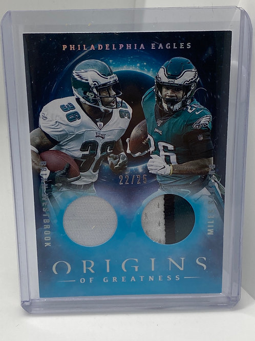 2020 Panini Brian Westbrook Miles Sanders Double Patch 22/25