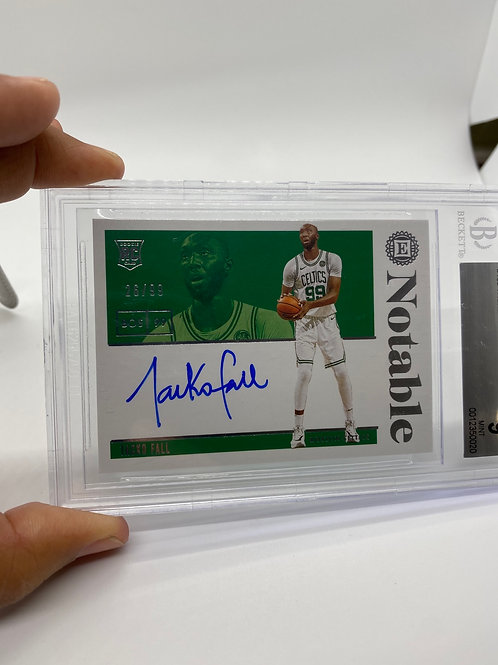 2019-20 Panini Encased Notable Rookie Auto Tacko Fall 99/99 BGS 9 MINT