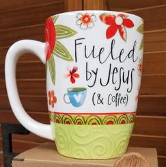 Feuled by Jesus Mug