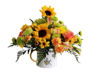Bee Happy Mug Arrangement