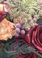 Purple Queen Anne's Lace (aka - Chocolate Lace)& Brunnia