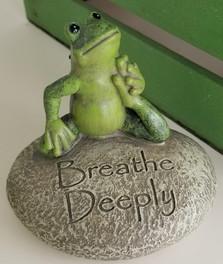 Breathe Deeply - Yoga Frog