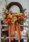 Yellow & Orange GIngham Wreath