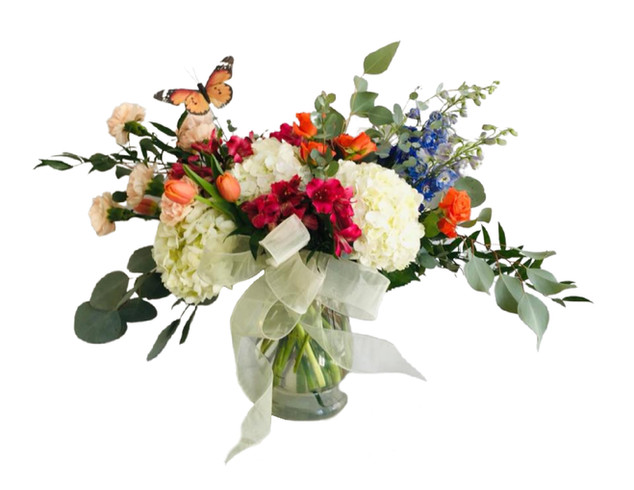 Custom Arrangement with Butterfly