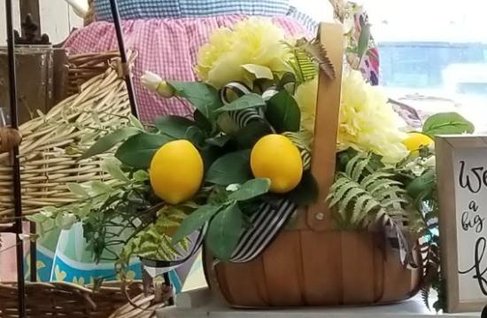 Lemon Basket - Silk Arrangement