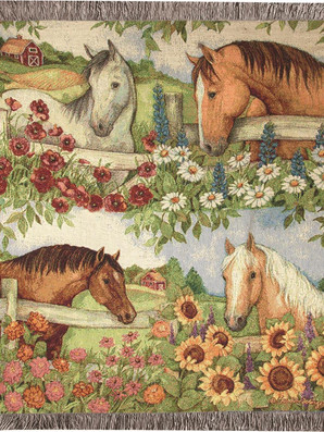 Horse in Florals