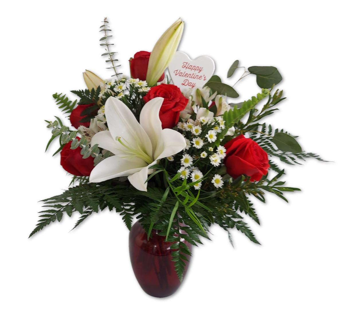 Red Vase Arrangement
