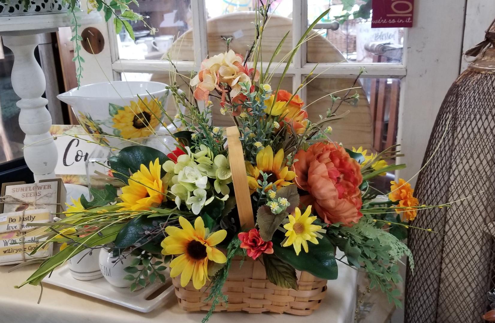 Wild Flowers in Basket