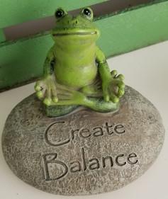 Create Balance - Yoga Frog