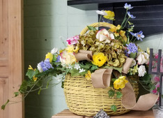 Yellow Basket - Silk Arrangement