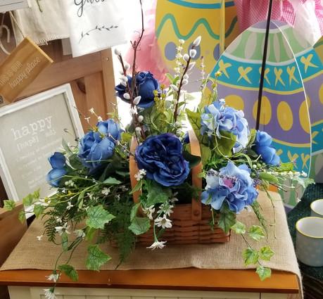 Blue Flowers in Longberger Basket