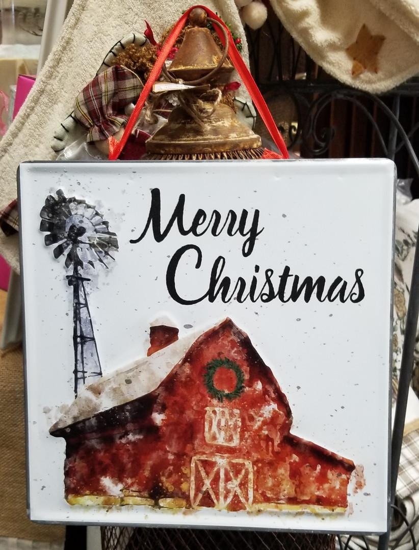 Merry Christmas - Metal Wall Sign
