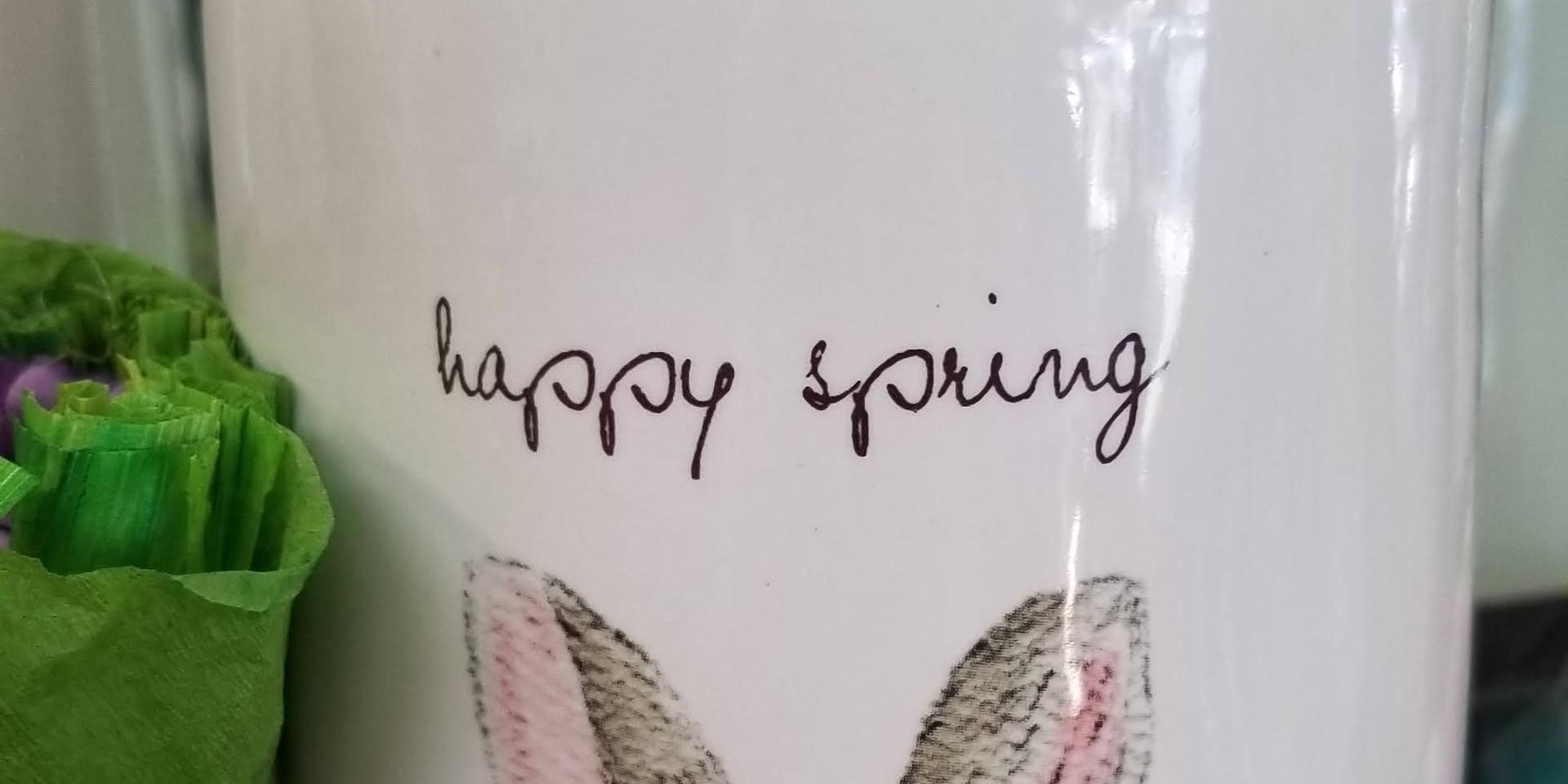 Happy Spring - Ceramic Canister
