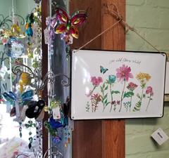 Live Wild Flower Child Sign