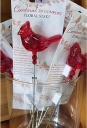 Cardinal of Comfort Floral Stake