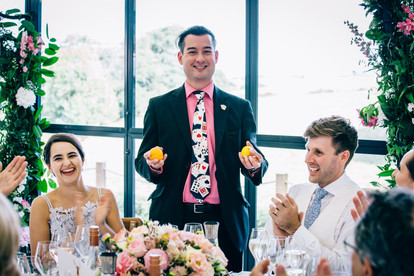 Robin & Tabtha's Wedding Breakfast at Paschoe House - Photography by the kind courtesy of Maxi Photography.