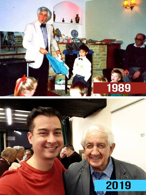 Allan Jones in 1989 for my 5th birthday Party at our Hotel ( Sid Valley Country Hotel) & again in 2019 but at Exonian Magic society
